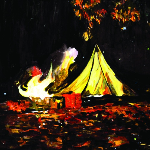 """The Important Records label that released James Blackshaw's """"Love is the Plan, the Plan is Death"""" describes the album as """"an incredibly warm and intimate recording,"""" and what's more warm and intimate that a beautiful campfire? Forget buying James Blackshaw's """"Love is the Plan, the Plan is Death"""" for the music; I want to hang this gorgeous oil painting of a campfire on my wall."""