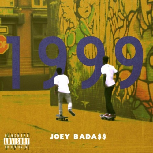 """1999"" is an album that hearkens back to hip-hop of the 90s, and this straightforward album cover of two kids skateboard through an urban neighborhood has a wistful feel to it (even if I didn't grow up in the inner-city)."