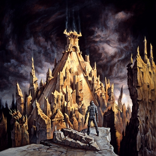 """The band moniker """"Xibalda"""" comes from the name of a Mayan Underworld, and in a year when the Mayans are expected to bring an end to it all, there is not a more fitting album cover in 2012 than """"Hasta La Muerte."""" Artist Dan Seagrave describes his inspiration as, """"I imagined a giant pyramid structure, keeping in mind the Mayan architecture, over which had later been built more modern layers of city tower blocks. The passage of time ultimately sending those to ruin whilst the original culture and civilization is once again revealed."""" This album cover reassures us that even though the end of the world will suck, at least it will look cool."""