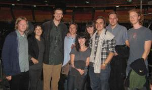 Bonner hanging out with Arcade Fire; no biggie.