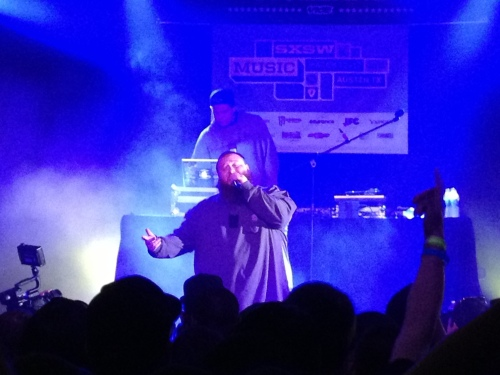 Action Bronson amidst a sea of smoke.