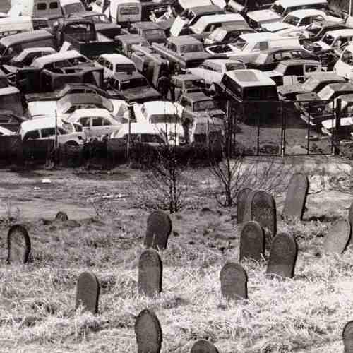Human cemetery, meet car cemetery.