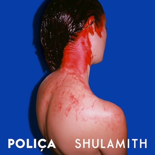 """You won't find a more alarming album cover than Polica's Shulamith, a photo taken from behind a woman, her hair and neck covered in blood. She looks off into the empty, blue back-drop, a shaken shell of her former self. To help explain the intriguing of the photo, the band described it as """"""""A portrait of a woman as her own worst enemy."""" Mystery unsolved."""