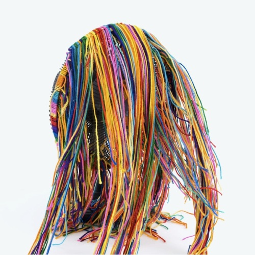 For months, Liars teased the release of their 2014 album Mess by posting pictures daily on their social media of a mysterious pile of colorful yarn.  The wide range of images (yarn in a mailbox, a yarn sandwich, yarn in a swing set, etc.) built anticipation for the art-dance album and established the distinctive image that graced the album's cover. Mess? Far from.