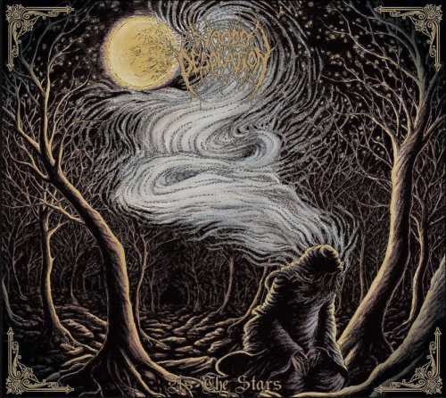 """When asked about the striking artwork for As the Stars, D, the brains behind Woods of Desolation, said, """"I wanted something to reflect the general album themes, as well as the ambiguity behind the album name. The artwork was done by Lucas Ruggieri, and done quite well in my opinion."""" Quite well, indeed."""